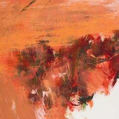 Flux LXXX.   104,5x190 cm., oil on canvas, 2015