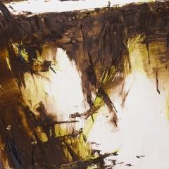 Flux LXXXI.   78x133,5 cm., oil on canvas, 2015