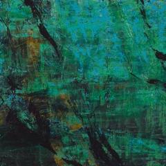 Flux LXXXV.   48x61 cm., oil on wood, 2015